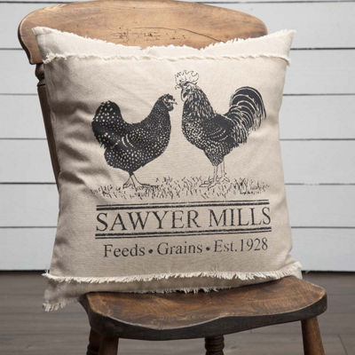 VHC Brands Sawyer Mill Poultry 18 x 18 Pillow
