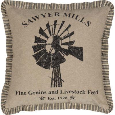VHC Brands Sawyer Mill Windmill 18 x 18 Pillow