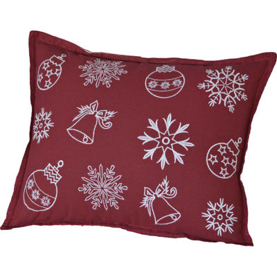 VHC Brands Snow Ornaments 14 x 18 Pillow