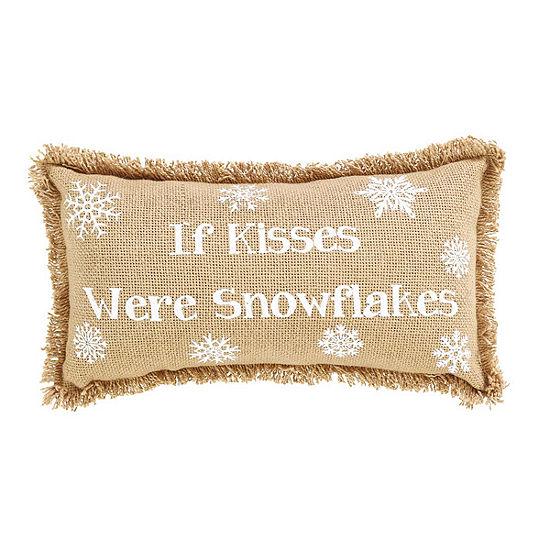 Ashton And Willow If Kisses Were Snowflakes 7x13 Lumbar Pillow