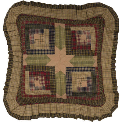 VHC Brands Tea Cabin 16 x 16 Quilted Pillow