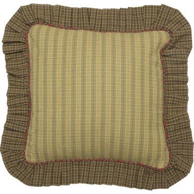 VHC Brands Kilton Green 16 x 16 Ruffled Pillow