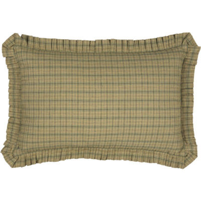 VHC Brands Tea Star 14 x 22 Plaid Pillow