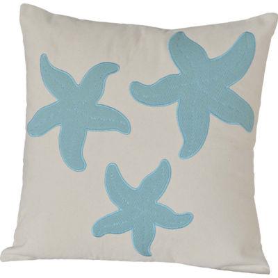 VHC Brands Three Starfish 18 x 18 Pillow