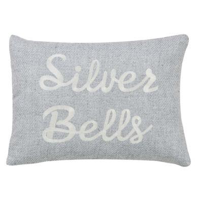 VHC Brands Tinsley Silver Bells 14 x 18 Pillow