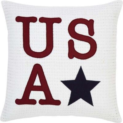 VHC Brands USA Applique 18 x 18 Pillow