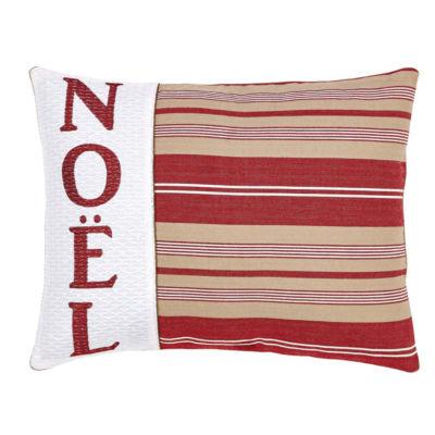 VHC Brands Vintage Stripe Noel 14 x 18 Pillow