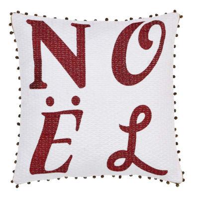 VHC Brands Vintage Stripe Noel 16 x 16 Pillow
