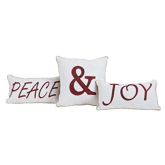 Ashton And Willow Peace Joy Lumbar Pillow