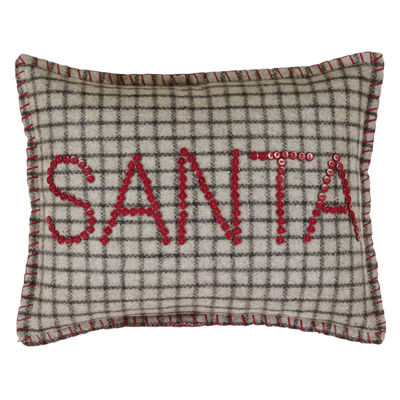 VHC Brands Weston Button Santa 14 x 18 Pillow