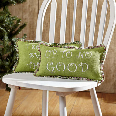 VHC Brands Whimsical Christmas Up To No Good 7 x13 Pillow Set