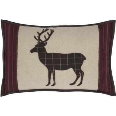 VHC Brands Wyatt Applique Deer 14 x 22 Pillow