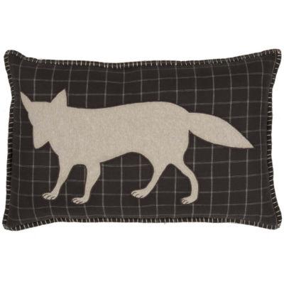 VHC Brands Wyatt Applique Fox 14 x 22 Pillow