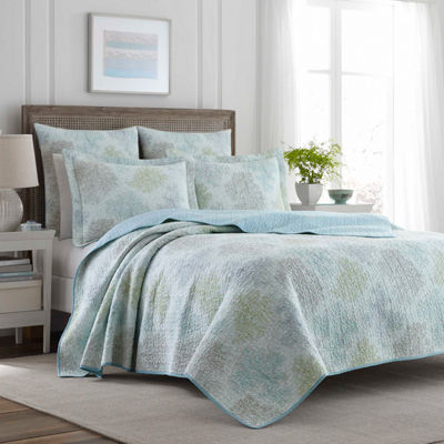 Laura Ashley Saltwater Blue Quilt Set