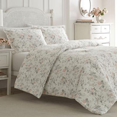 Laura Ashley Rosalie Pink Comforter Set