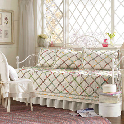 Laura Ashley Ruffle Garden Cream Daybed Set