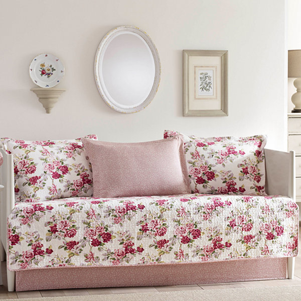 Laura Ashley Lidia Red Daybed Set