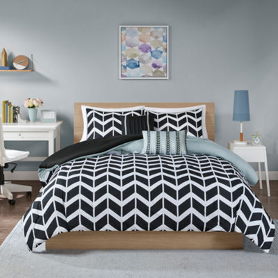 Intelligent Design Piper Reversible Chevron Comforter Set