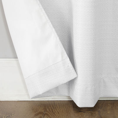 Sun Zero Filmore 2 Pack Thermal Insulated Rod Pocket Curtain Panel