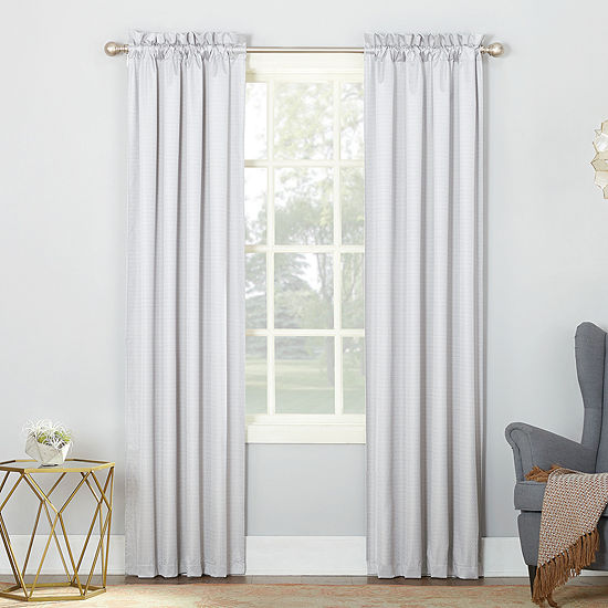Sun Zero Filmore Energy Saving Blackout Rod-Pocket Set of 2 Curtain Panel