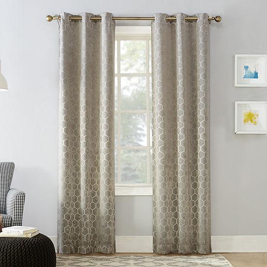 Sun Zero Marti Energy Saving Blackout Grommet-Top Set of 2 Curtain Panel