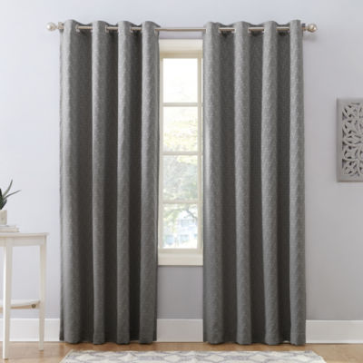 Sun Zero Cornell Blackout Grommet-Top Curtain Panel