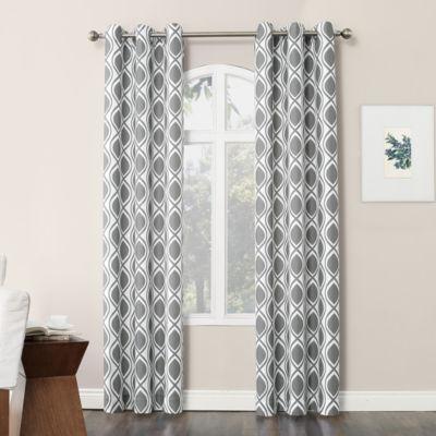 No 918 Valerie Cullen Light-Filtering Grommet-Top Single Curtain Panel