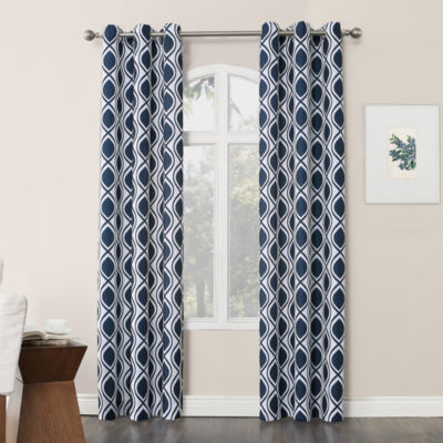 No 918 Valerie Cullen Light-Filtering Grommet-Top Single Curtain Panel