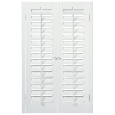 JCPenney Home™ Faux-Wood Plantation Shutters - 2 Panels