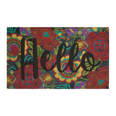Mohawk Home Floral Home Recycled Rubber Doormat