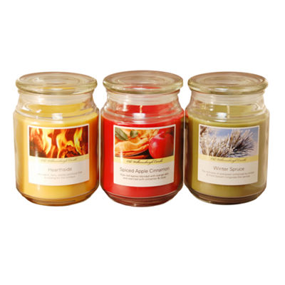 Scented Candles- Holiday Collection in 18oz Glass Jars (Set of 3)