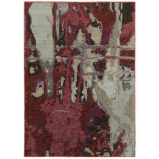 Covington Home Ember Rouge Rectangular Indoor Rugs
