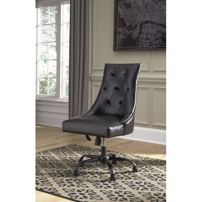 Signature Design by Ashley® Retro Chic Button-Tufted Home Office Swivel Desk Chair
