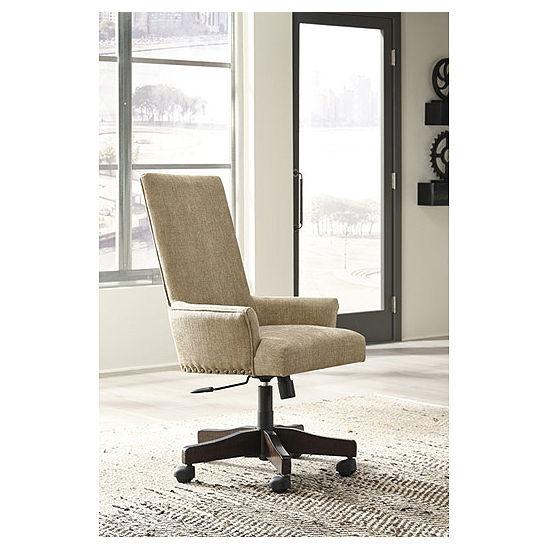 Signature Design By Ashley Baldridge Upholstered Swivel Desk Chair