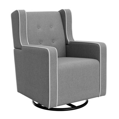 Graco Graco Tufted Remi Upholstered Swivel Glider - Horizon Gray/White Glider