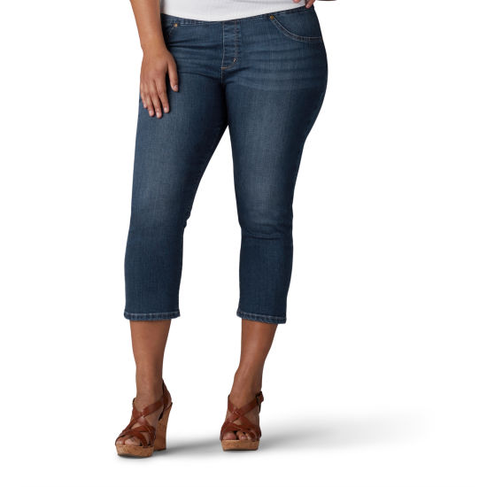 Lee® Slim Comfort Waistband Leg Pull-On Jean - Plus