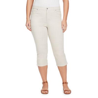 Gloria Vanderbilt® Classic Straight Leg Amanda Twill Capri-Plus