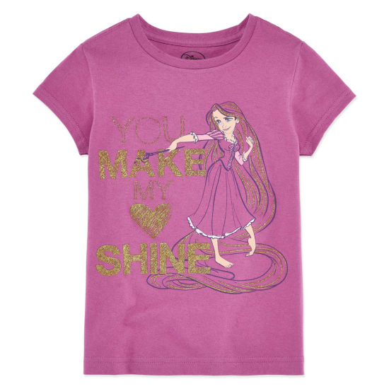 Disney Tangled Graphic T-Shirt-Big Kid