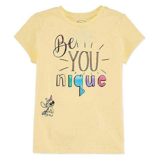 Disney Collection Girls Short Sleeve Graphic T-Shirt - Big Kid