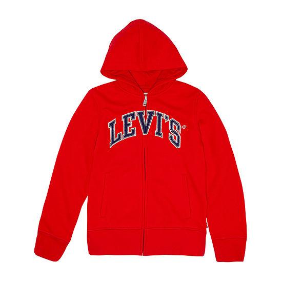 Levi's Embroidered Hoodie Girls Hoodie-Big Kid