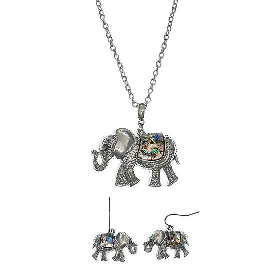 Mixit Silver Tone 2 Pc Jewelry Set