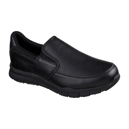 Skechers Mens Nampa Slip-on Closed Toe Wide Width Oxford Shoes