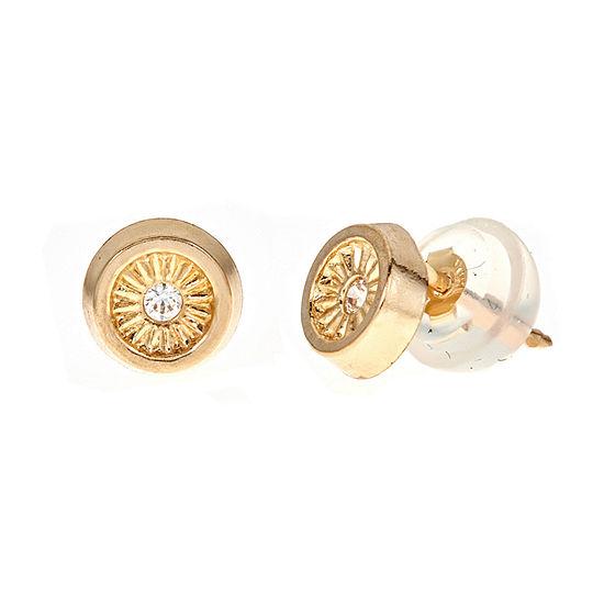Diamond Accent White Cubic Zirconia 14K Gold 5.3mm Stud Earrings