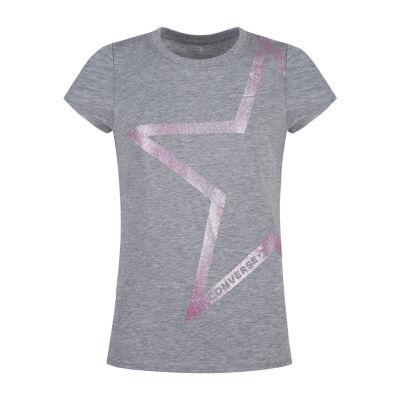 Converse Girls Crew Neck Short Sleeve Graphic T-Shirt-Preschool