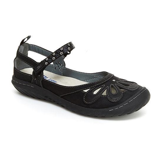 J Sport By Jambu Womens Wildflower Encore Mary Jane Shoes Hook and Loop Round Toe