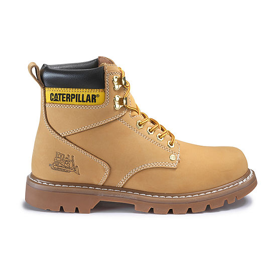 Cat Mens Second Shift Slip Resistant Work Boots