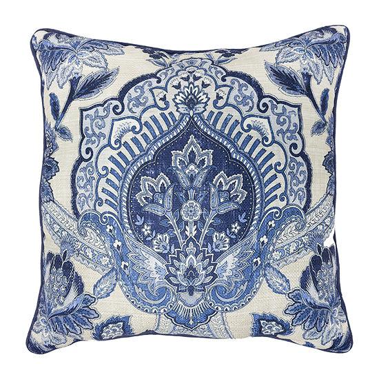 Croscill Classics Leland 18x18 Square Throw Pillow