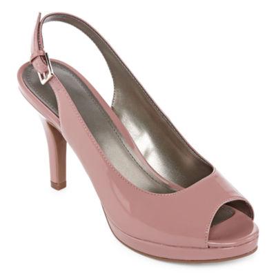 Worthington Womens Genesse Pumps Open Toe Stiletto Heel