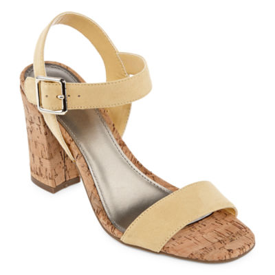 Worthington Womens Baldwin Heeled Sandals