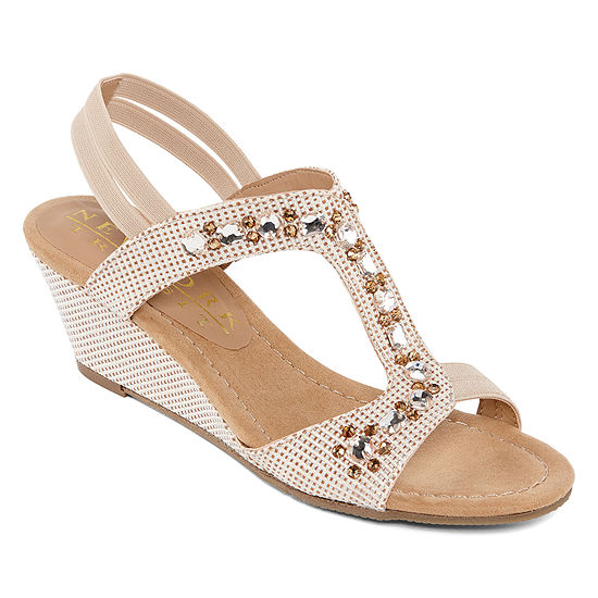 New York Transit Womens Various Needs Wedge Sandals